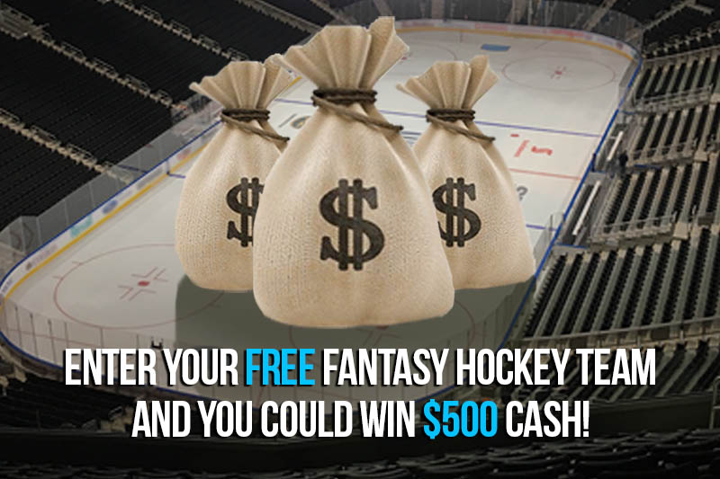 Enter your free fantasy hockey team and you could win $500 in VISA gift cards!